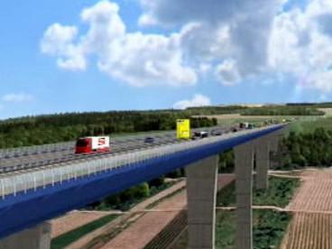 Plánovaný most v Porýní-Falci