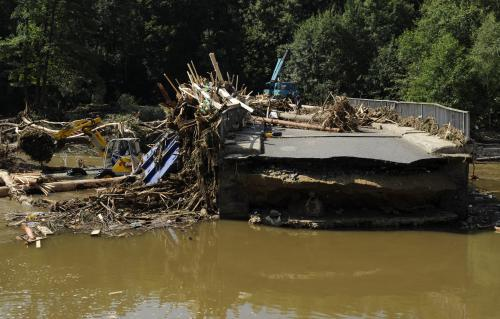 Povodně poškodily mosty