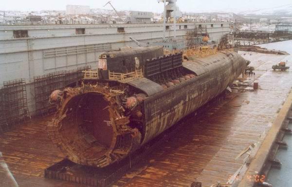 Zbytky ponorky Kursk