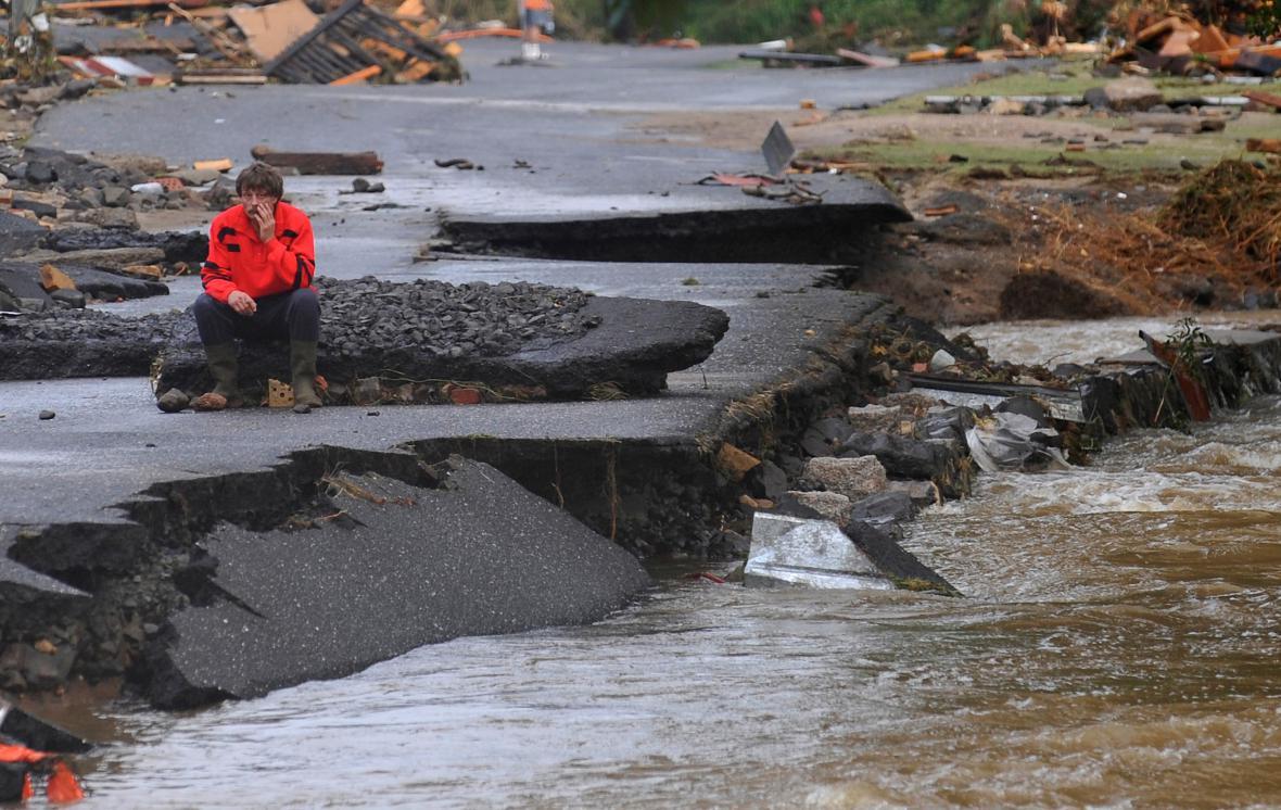 Povodně v Heřmanicích na Liberecku