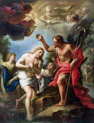 Jan Křtitel křtí Ježíše Krista