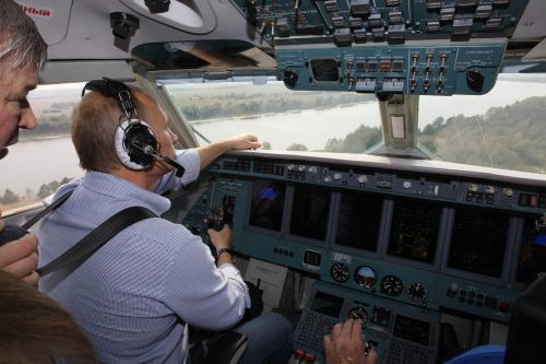 Vladimir Putin v letounu