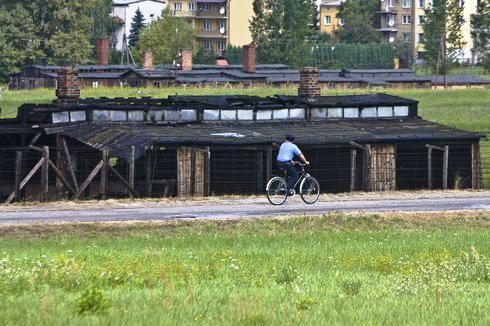 Bývalý koncentrační tábor Majdanek byl poškozen požárem