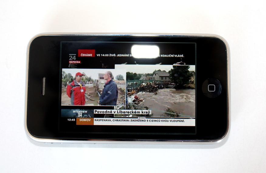 Živé vysílání ČT24 v iPhonu