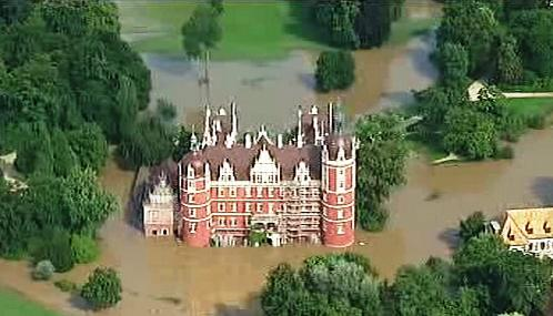 Zaplavený park knížete Pücklera