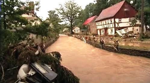Záplavy v Bogatyni