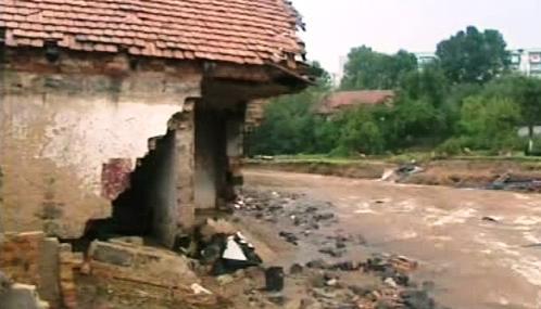 Následky záplav v polské Bogatyni