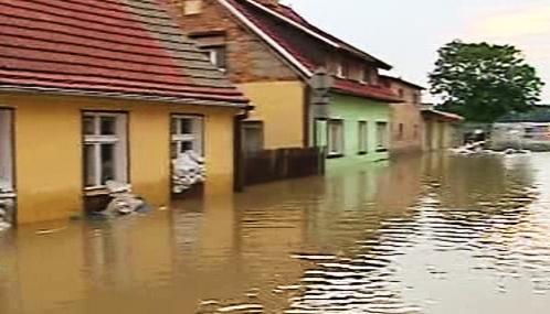 Záplavy v polské Bogatyni