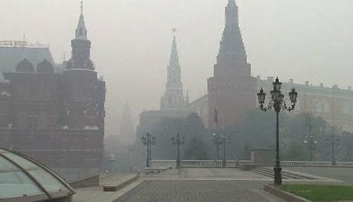 Moskva se potýká se smogem