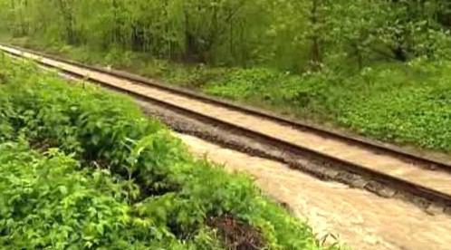 Zatopená železnice