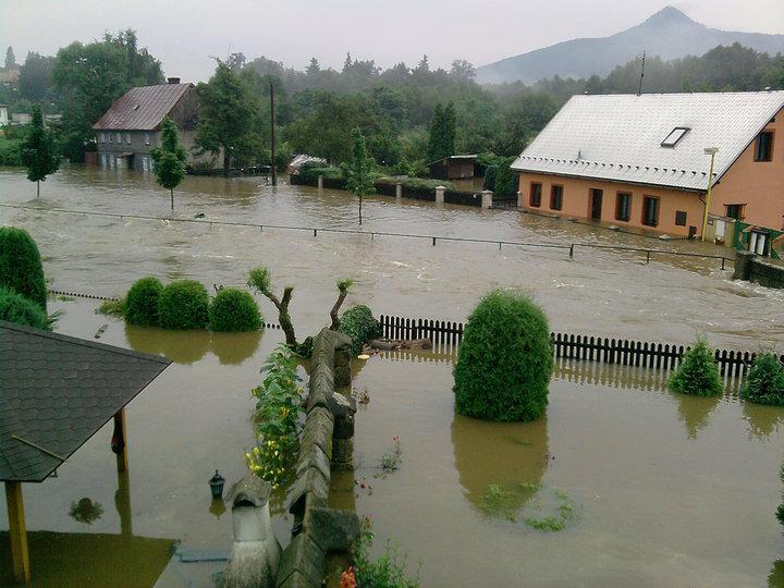 Záplavy - Mimoň - Česká Lípa