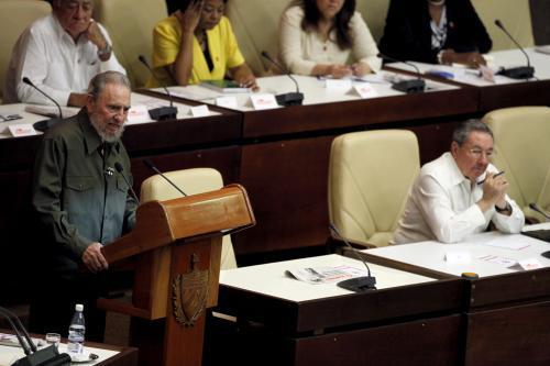 Fidel Castro na zasedání kubánského parlamentu