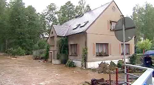 Zatopený dům