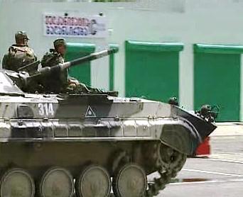 Vojáci v gruzínských ulicích