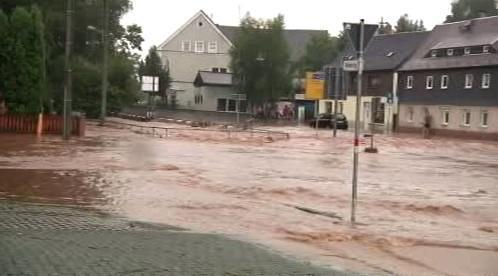 Sasko zasáhly silné deště