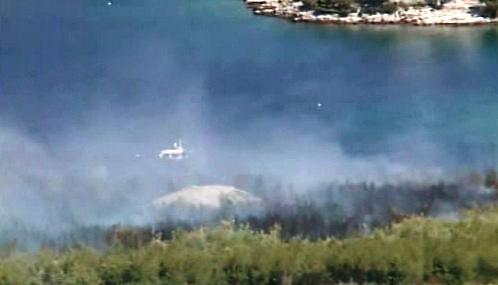 Požár na ostrově Hvar