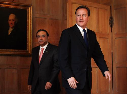 David Cameron a Ásif Alí Zardárí