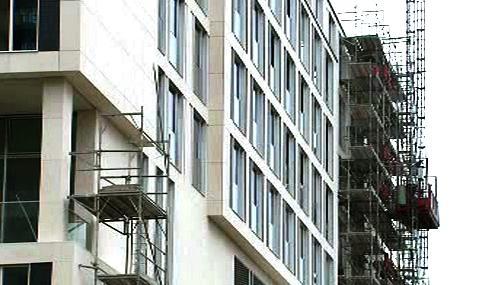 Stavba hotelu v Berlíně
