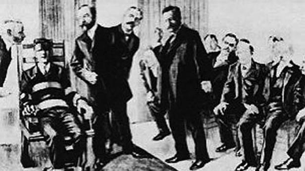 Výtvarné zachycení popravy Kemmlera