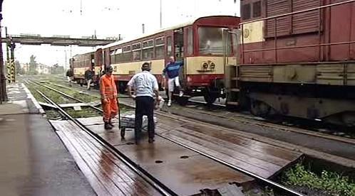 Vlak na dolním nádraží