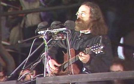 Jaroslav Hutka na Letné v listopadu 1989