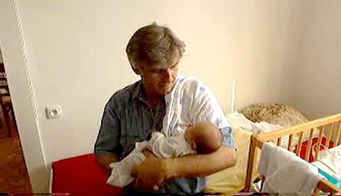 Petr Švadlenka s vnučkou