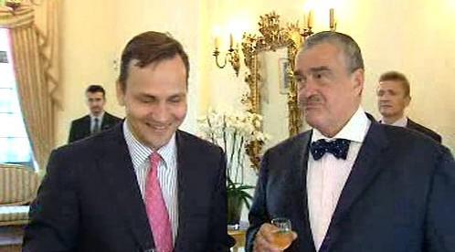 Radoslaw Sikorski a Karel Schwarzenberg