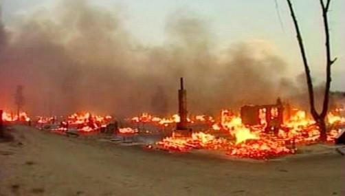 Ničivé požáry v Rusku