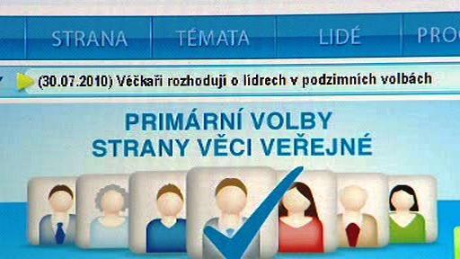 Webové hlasování VV