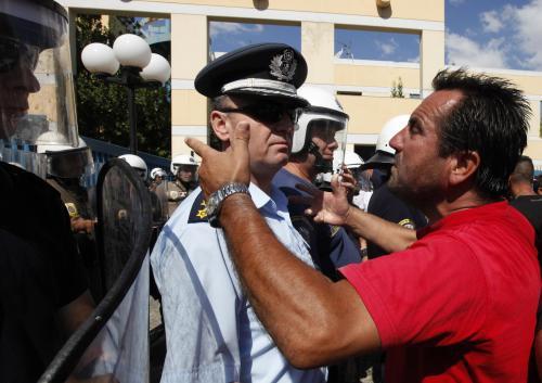 Stávka řeckých řidičů