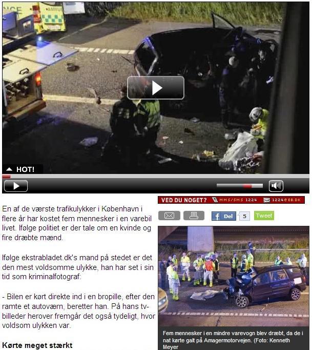 Tragická nehoda Čechů u Kodaně