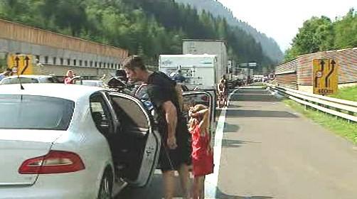 Zácpy na rakouských dálnicích