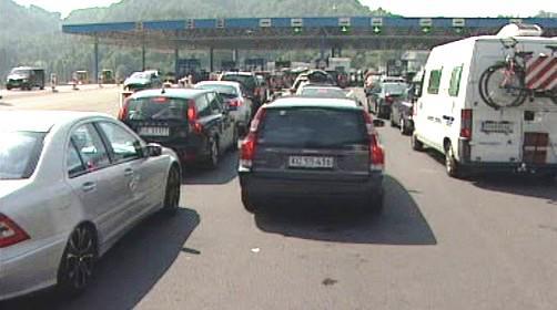Zácpy u mýtných bran na italských dálnicích