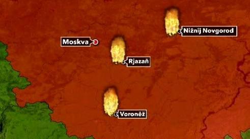 Oblasti nejvíce postižené ohněm