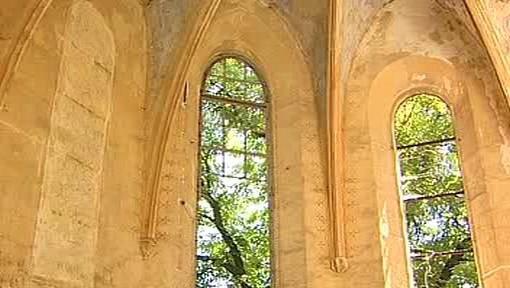 Prázdný kostel v Sudetech
