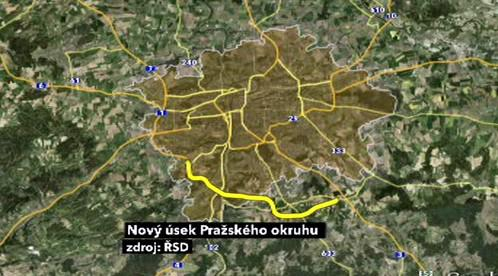 Nový úsek Pražského okruhu