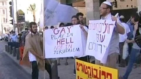 Odpůrci homosexuálů v Jeruzalémě