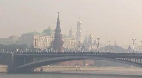 Ruská metropole pod příkrovem smogu