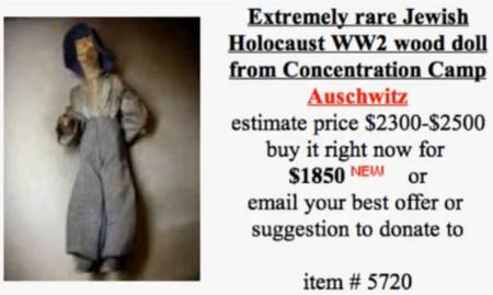 Internetový obchod s artefakty z koncentračních táborů