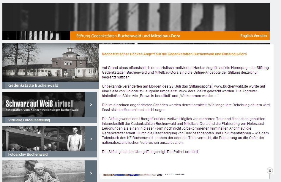 Web památníku v Buchenwaldu