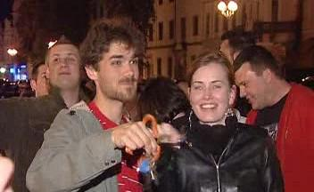 Noční protesty v Hradci Králové