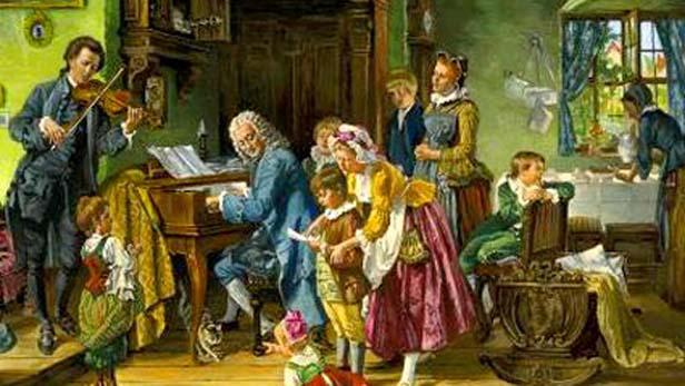 J. S. Bach se svou rodinou