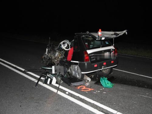 Vrak auta po nehodě