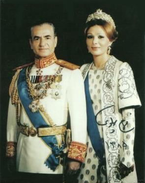 Šáh Páhlaví s manželkou Farah Dibou
