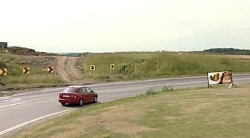 Zatáčka na konci dálnice D3
