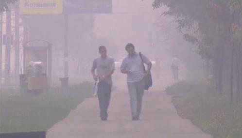 Moskvu zahalil kouř z požárů lesů a rašelinišť