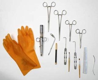 Nástroje použité při úpravě Elvisovy mrtvoly