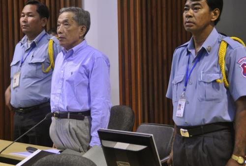 Kang Kek Ieu před tribunálem OSN