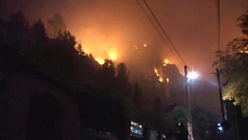 Požár u Marseille