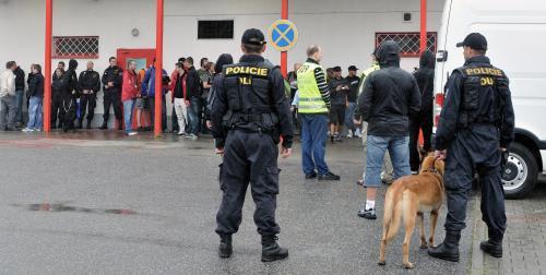 Policie dohlíží na krajní pravici